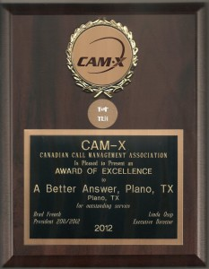 A Better Answer Wins CAM-X Award for all Three Offices!