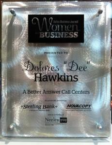 DBJ - Dee Hawkins as one of 2011 Women in Business Honorees