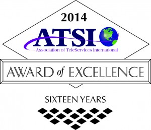ATSI Award of Excellence 16 Years 2014